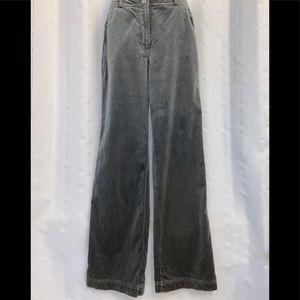 Womens ST.JOHN SPORT Gray Velvet Velour Pants 6